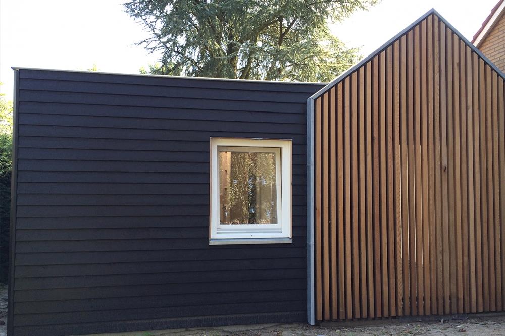 Moderne aanbouw woonhuis blaricum boks architectuur - Foto gevel moderne villa ...