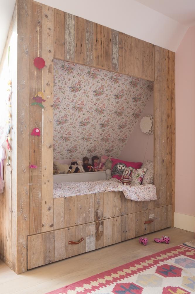 Interieur en meubels op maat boks architectuur - Behang voor een kamer ...